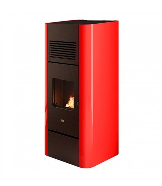 Poêle à granulés Adria 15,4 kW rouge