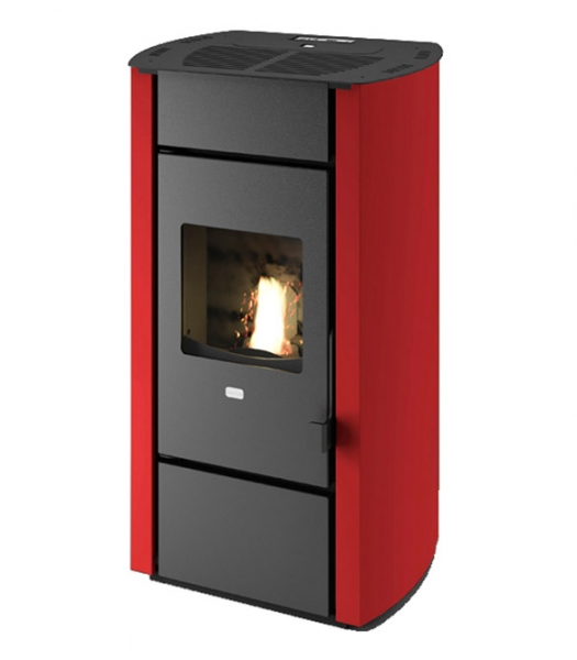 Poêle à granulés 11,5 kW Stella rouge